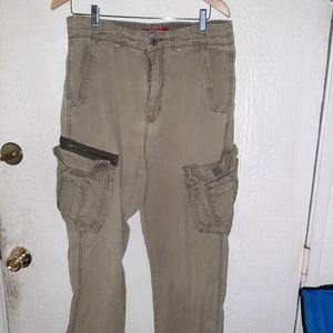 Unionbay tangreen cargo pants waist 33 length 32